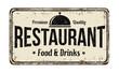 Restaurant vintage metal sign