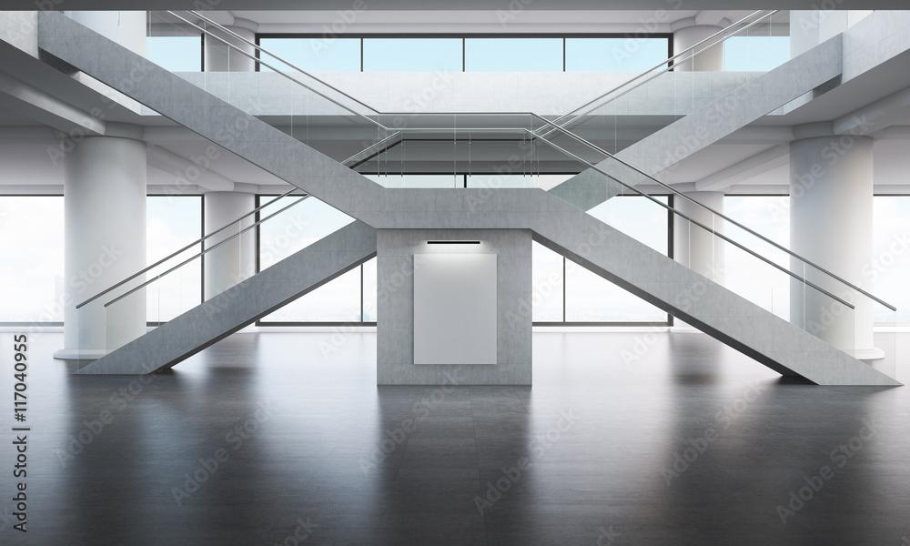 Skrzyżowane schody w górę <span>plik: #117040955   autor: denisismagilov</span>