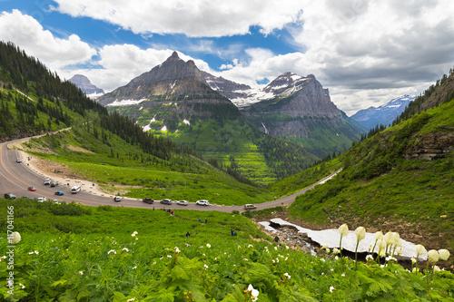 Fotografia, Obraz  Visitors at Going to the Sun road, Glacier National Park, Montana, USA