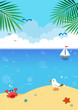 Summer seascape background