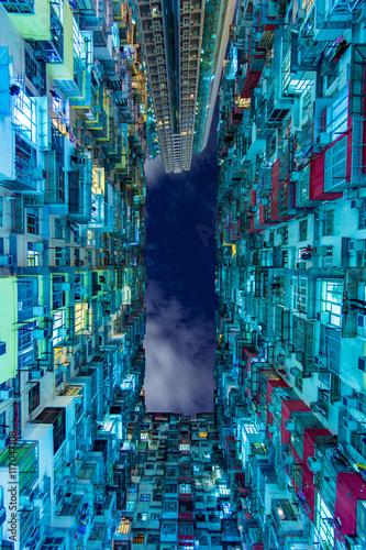 Leinwand Poster  香港の過密住宅 ポートレート