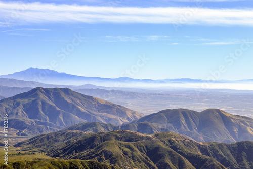 layers of mountains at Big Bear, California