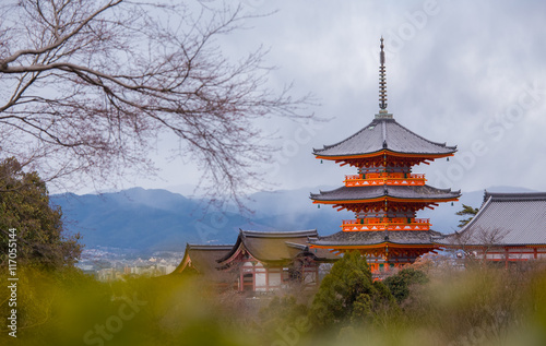 Poster Kyoto Kiyomizu-dera Temple in Kyoto, Japan