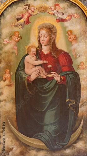 salamanca-hiszpania-kwiecien-18-2016-obraz-madonna-z-dzieckiem-w-convento