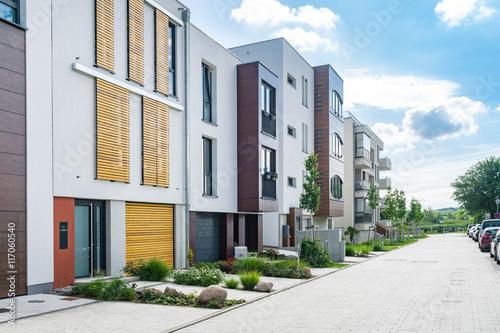 Fotografiet  Moderne Wohnsiedlung