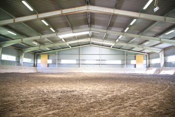 View an indoor riding arena