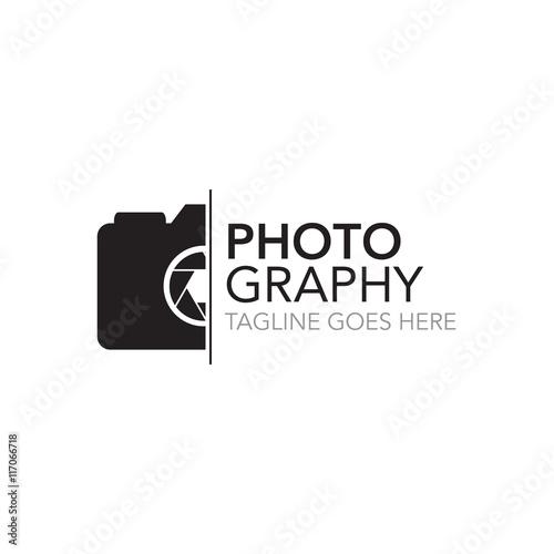 Obraz photography concept logo design vector template - fototapety do salonu