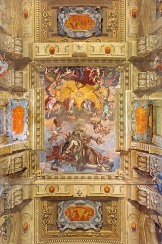Valokuva  BRESCIA, ITALY - MAY 23, 2016: The fresco of Assumption of Virgin Mary on the va