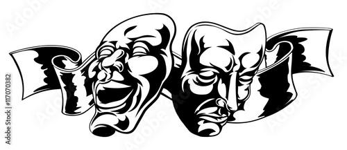 Fotografie, Tablou  Theater Masks