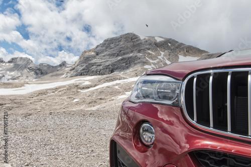 Fotografie, Obraz  Car on Mountain Top