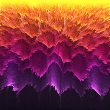 Orange Purple Wave Background ...