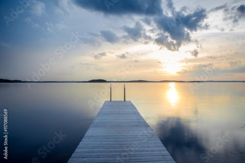 Cadres-photo bureau Cote Northern sea landscape. Harbor scene. Sweden, Scandinavia.