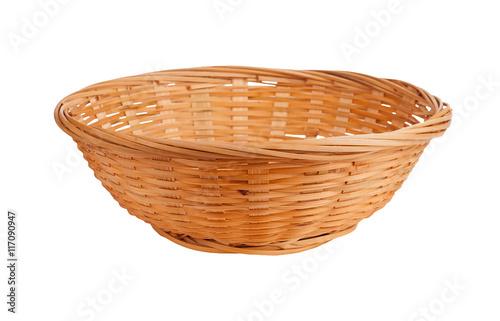 Fotografie, Obraz  Wicker basket isolated