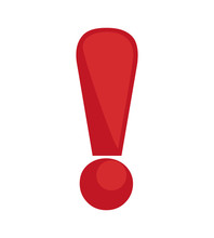 Warning And Message Concept Represented By Exclamation Mark Icon. Isolated And Flat Illustration