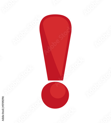 Fotografie, Obraz  Warning and message concept represented by exclamation mark icon