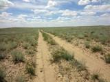 Infinite desert road in the Western Kazakhstan against a blue sky