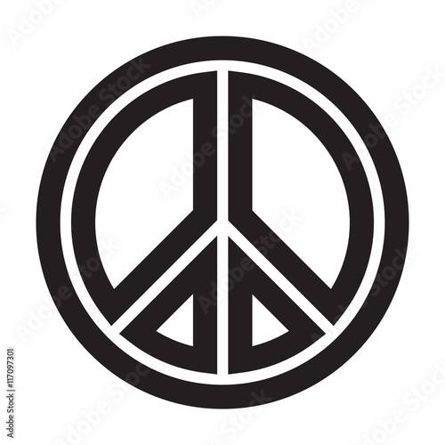 Peace Symbol Isolated On White Backgroundgn Of Peace For