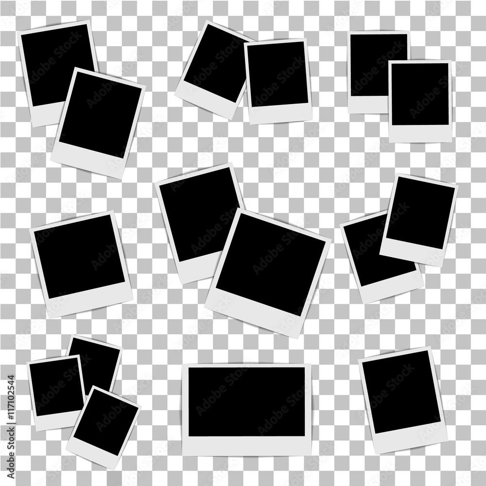 Fototapety, obrazy: Photo frame on isolated background. Vector illustration