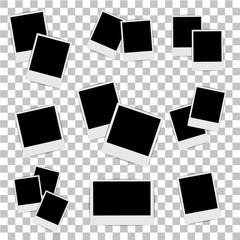 Fototapeta Photo frame on isolated background. Vector illustration