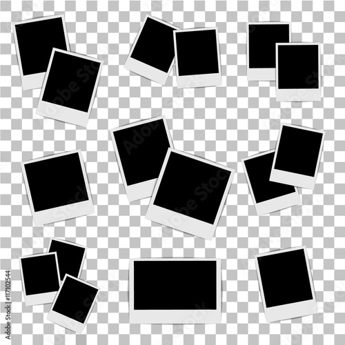 Valokuva Photo frame on isolated background. Vector illustration