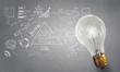 Bright idea for success . Mixed media