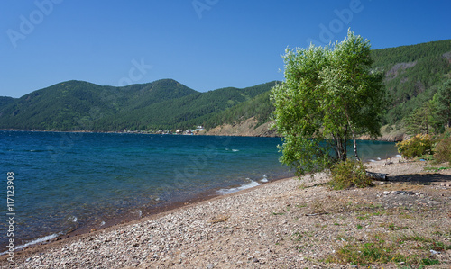 Poster Bergen Shore of Lake Baikal