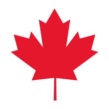 Flat Design Canada Flag Maple ...
