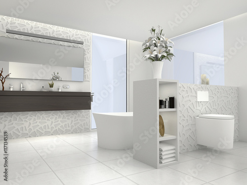 Bad Badezimmer Wellnessbad Bathroom Buy This Stock Illustration