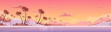 Summer Vacation Sunset Sea Shore Sand Beach