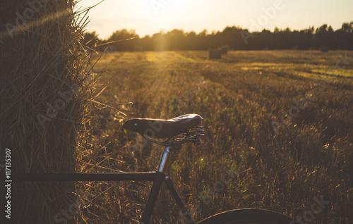 Deurstickers Fiets Old bike in the sun