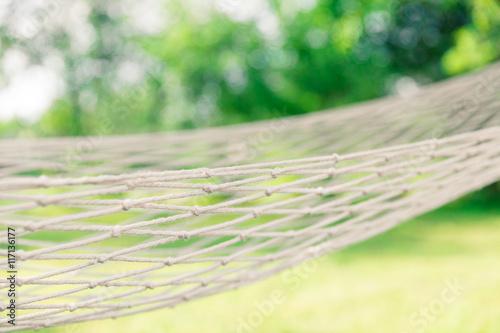 Photo  White hammock among the trees