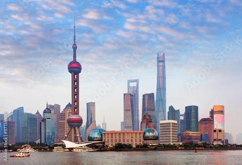 Shangahi skyline, China. Wallpaper Mural
