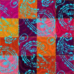 NaklejkaVector seamless ethnic patchwork pattern