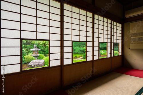 Foto op Plexiglas Bamboe 京都 泉涌寺 雲龍院の日本間