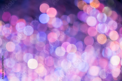 Purple and pink color bokeh light,Blurred abstract background Plakat