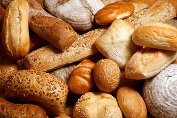 Fototapeta assortment of baked bread