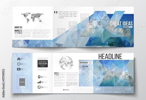 Fotografía  Set of tri-fold brochures, square design templates