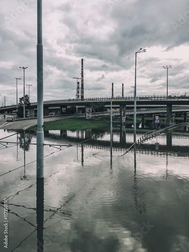 Plakat gdańsk zalany
