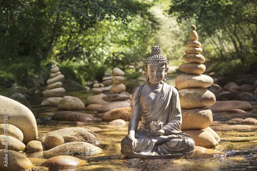 Pinturas sobre lienzo  Statue de Bouddha