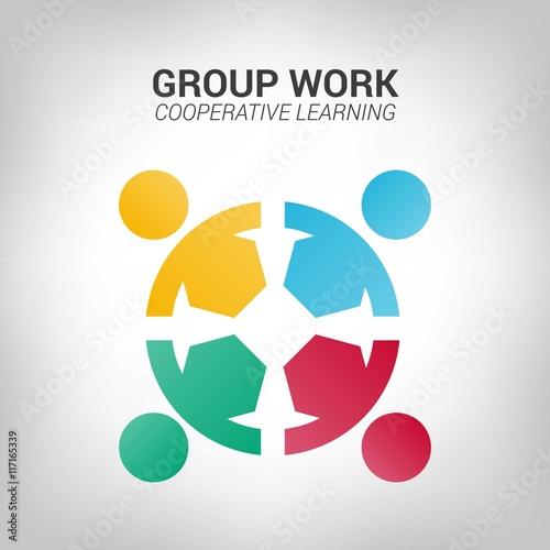 Valokuva  Group work logo