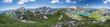 canvas print picture - Sommer Bergpanorama aus den Alpen