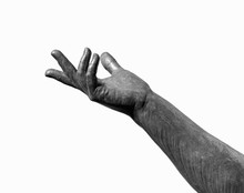 Arm And Hand Extended Upward On White