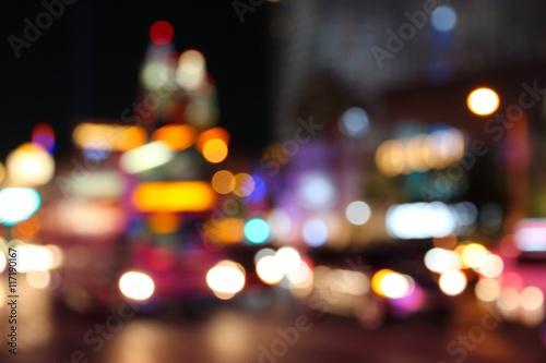 In de dag Las Vegas Defocused city - Las Vegas