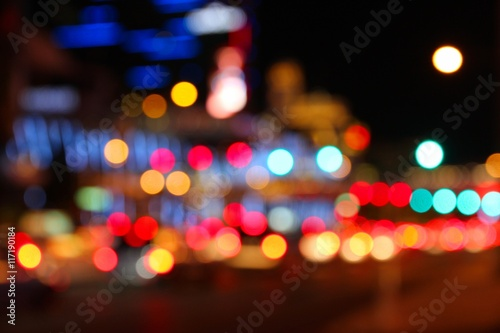 Fotobehang Las Vegas Night city blur - Las Vegas