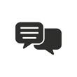 Communication bubble - vector icon.