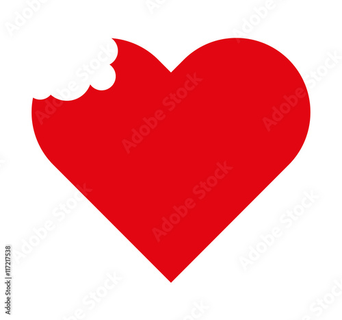 heart red love icon Canvas Print