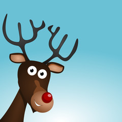 Rentier Rudolph an Weihnachten