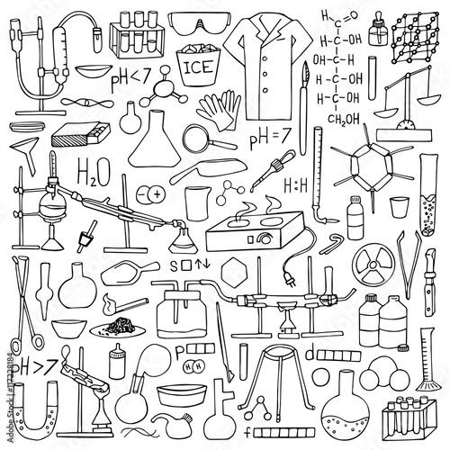 Chemistry doodle set Canvas-taulu