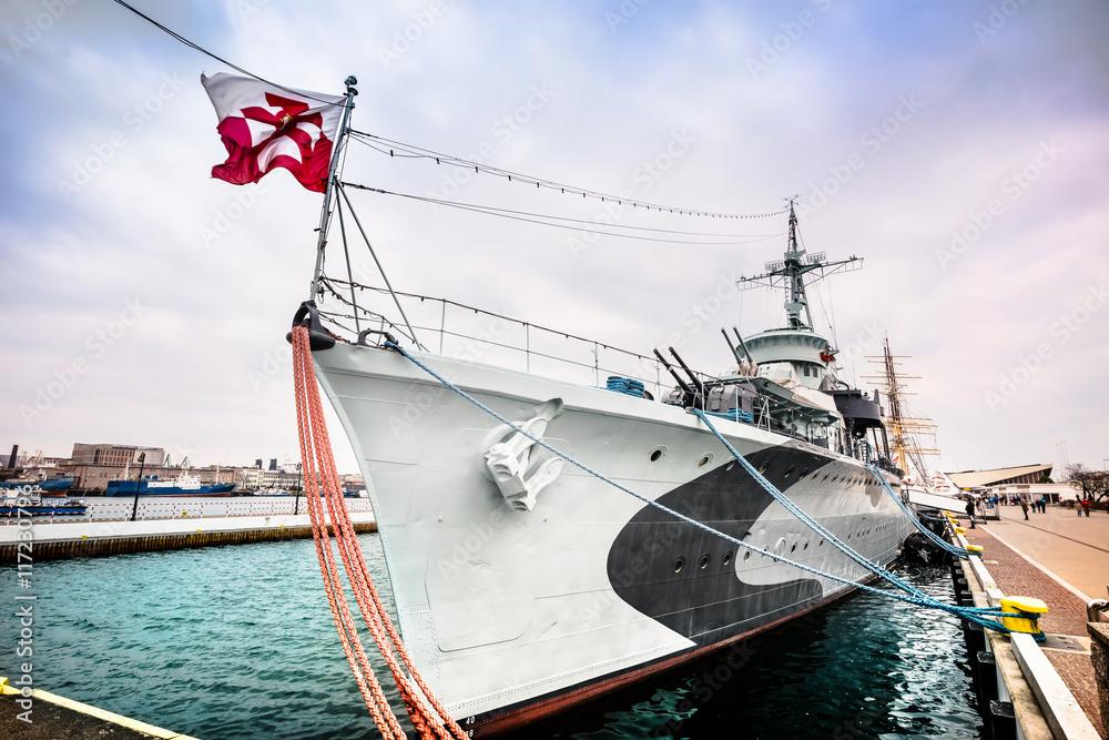 Fotografía Warship destroyer serving in the Polish Navy during World ...
