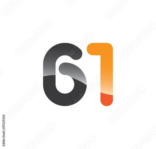 Photo  61 initial grey and orange with shine